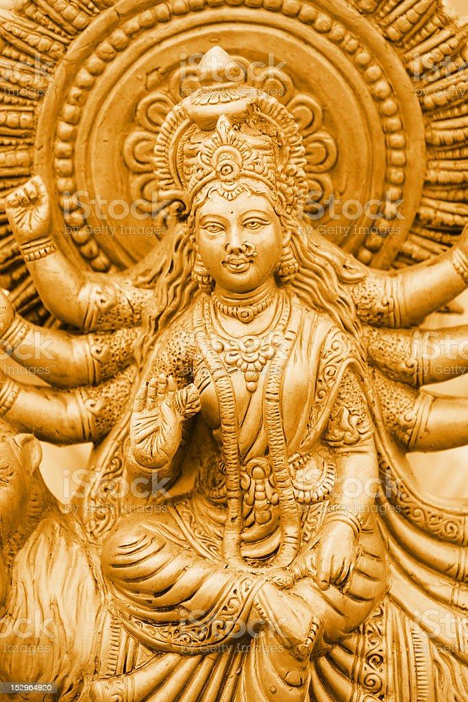 Golden Kali royalty-free stock photo