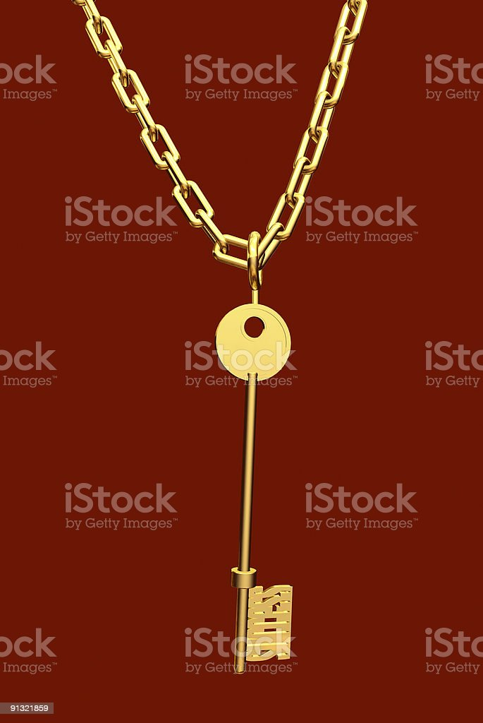 golden key royalty-free stock photo