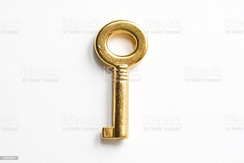 Golden key stock photo