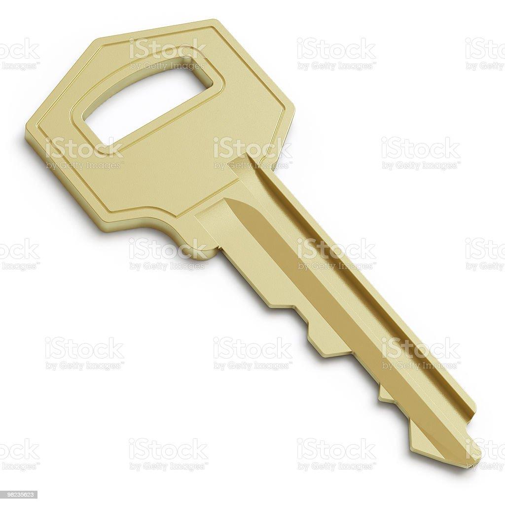 golden key royalty-free stock photo