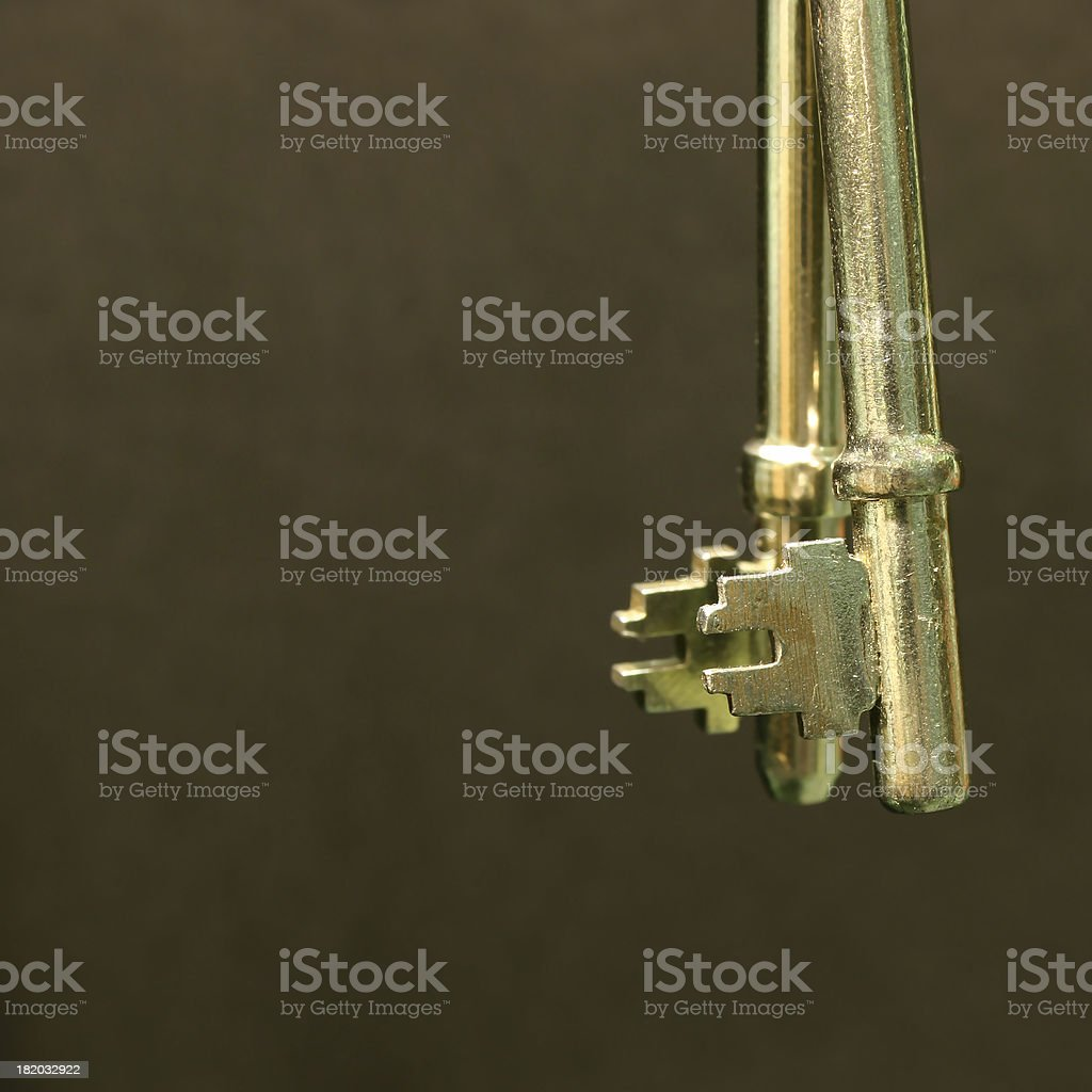 Golden Keys Close Up royalty-free stock photo