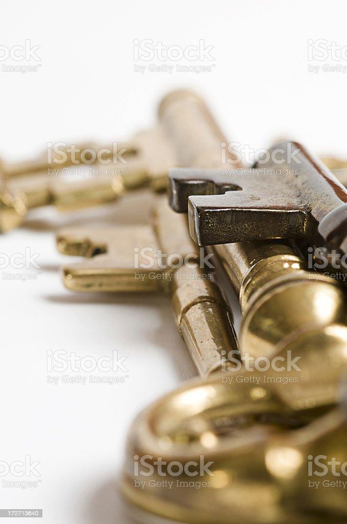 golden keys royalty-free stock photo