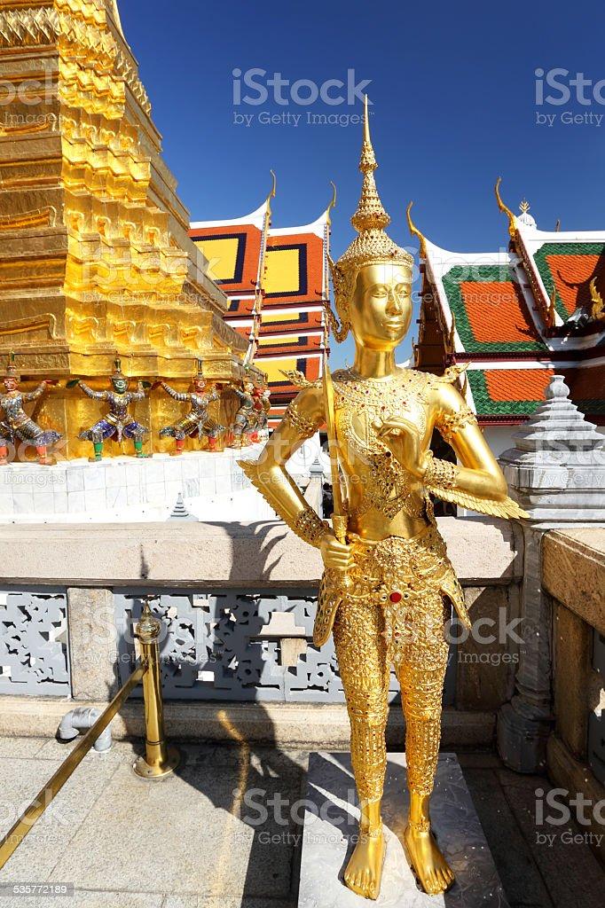 Golden Kinaree Sculpture stock photo