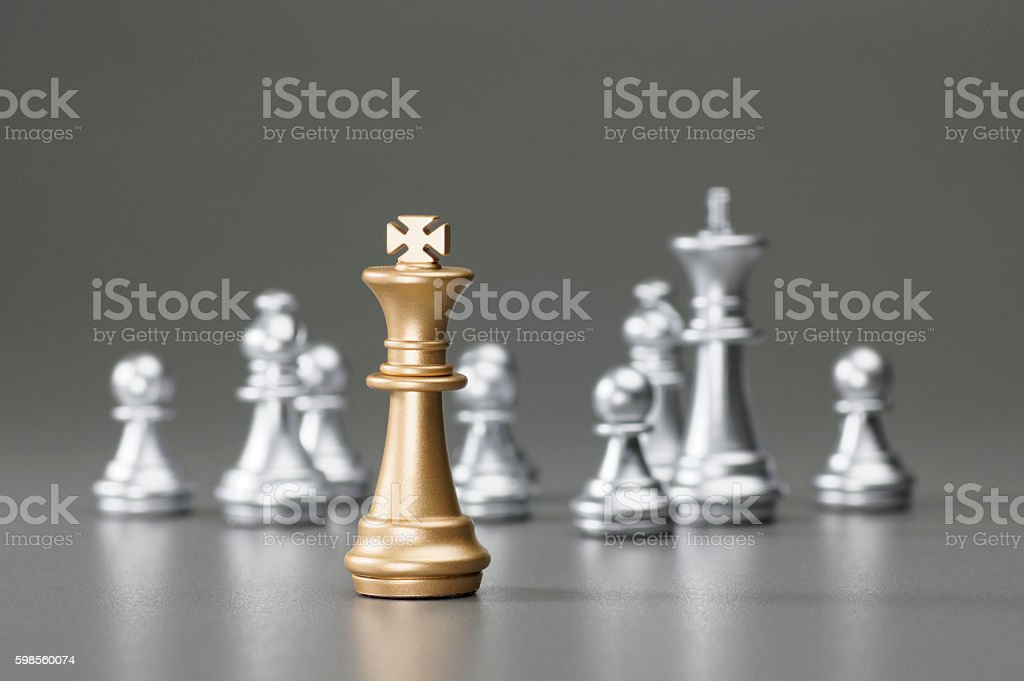 Golden King chess stock photo