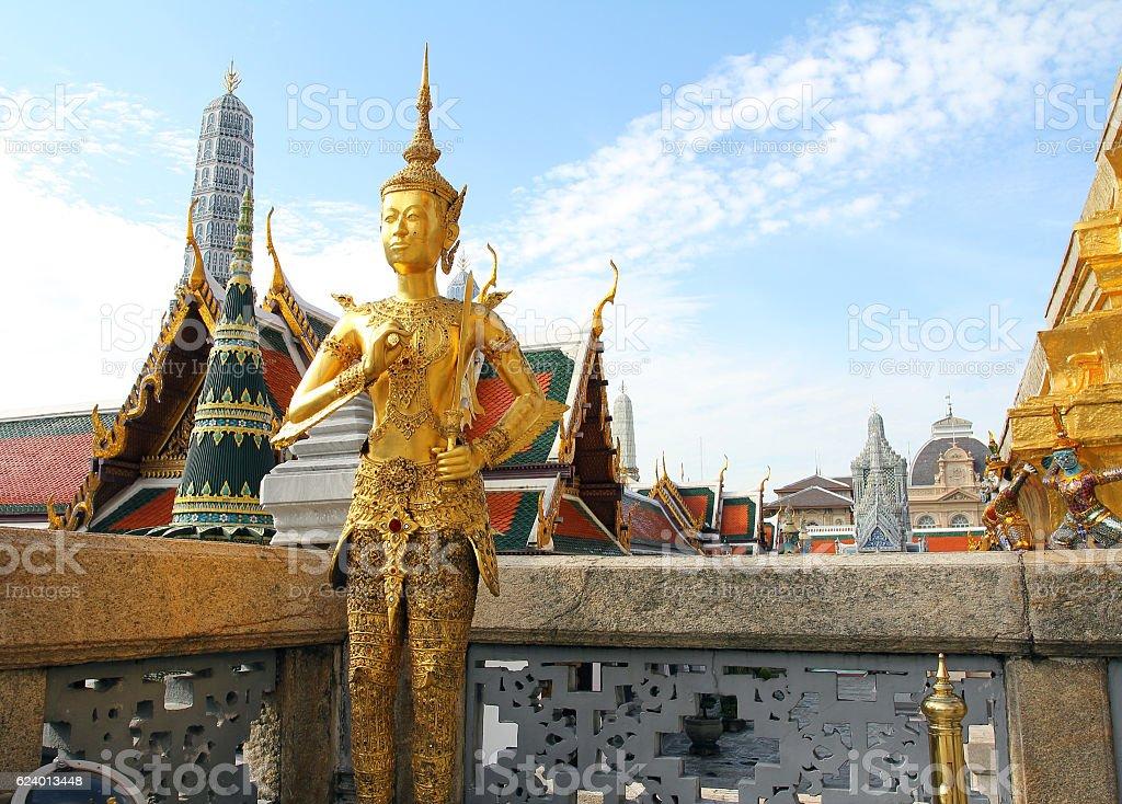 Golden Kinnaree stock photo