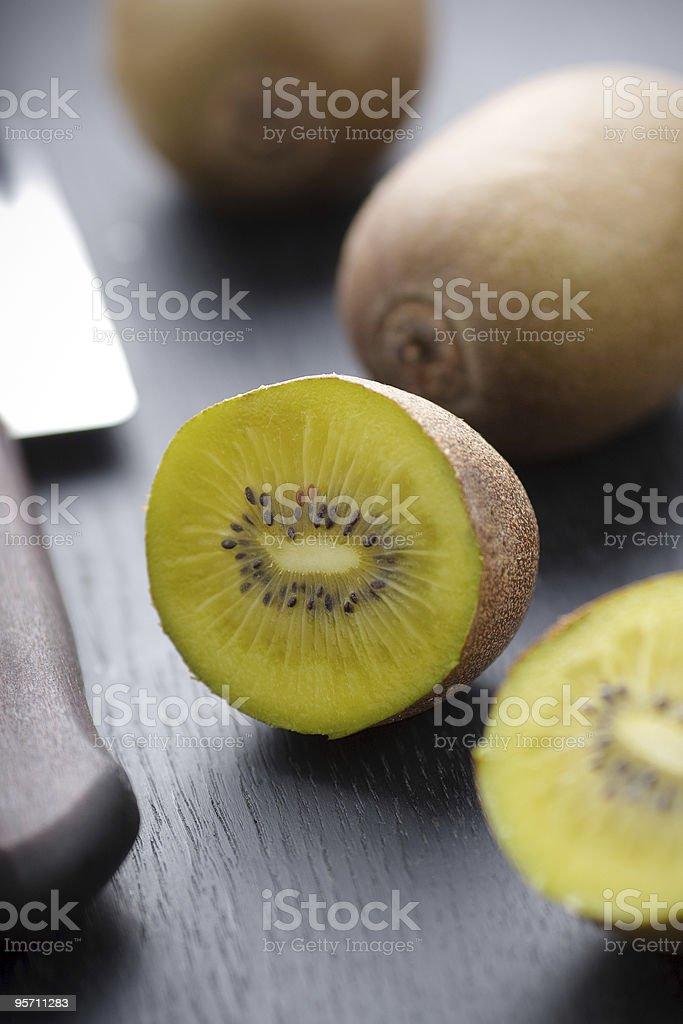 Golden kiwi stock photo