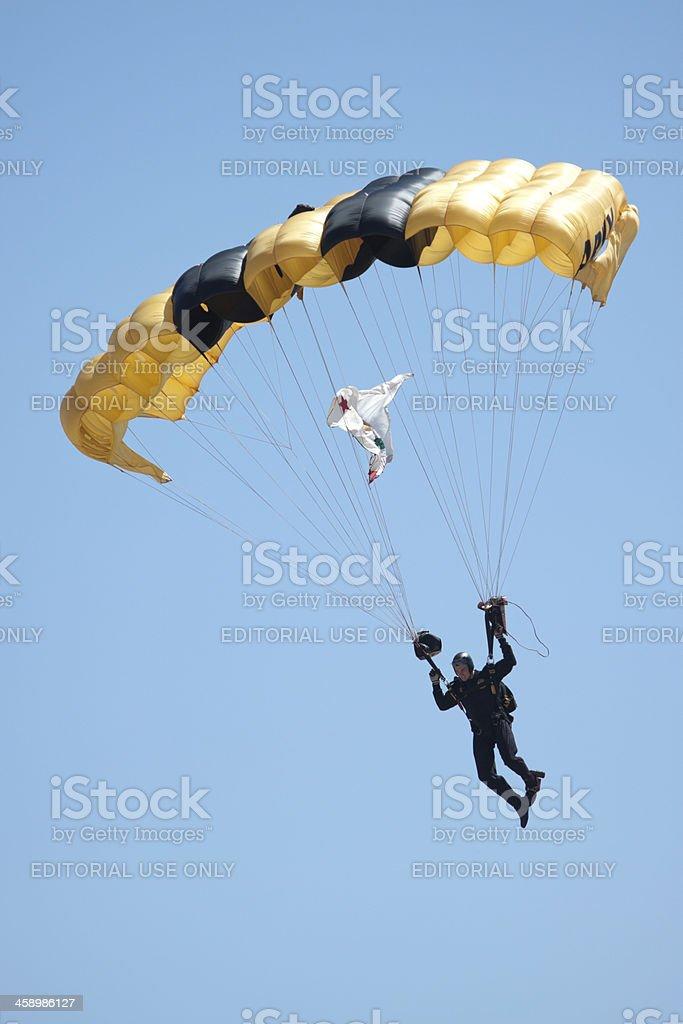 Golden Knight In Flight royalty-free stock photo