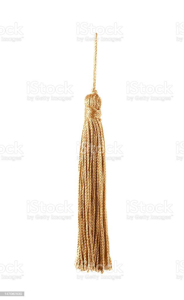 golden knot top tassel stock photo