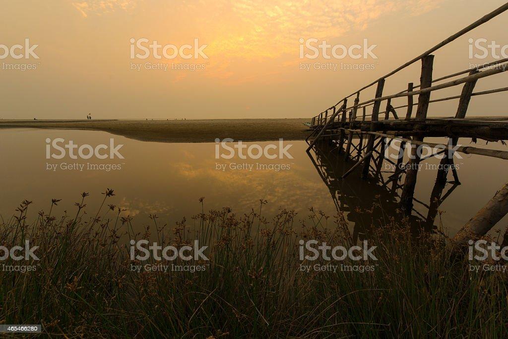 Golden Lagoon stock photo