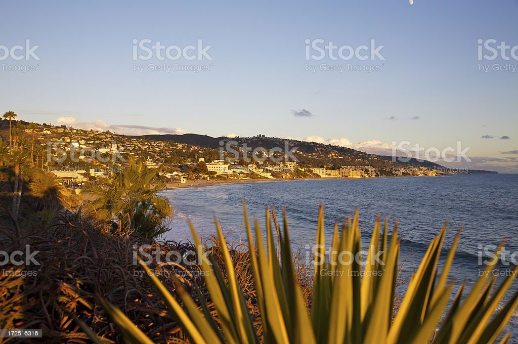 Golden Laguna beach royalty-free stock photo