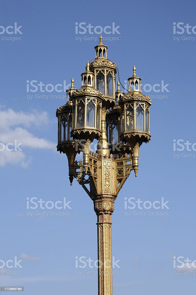 golden lamp royalty-free stock photo