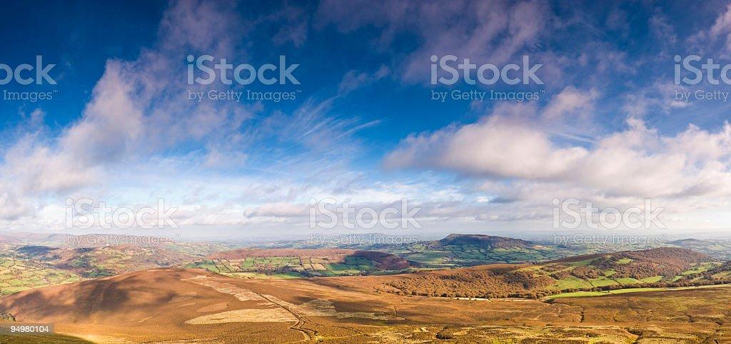Golden landscape, big sky royalty-free stock photo