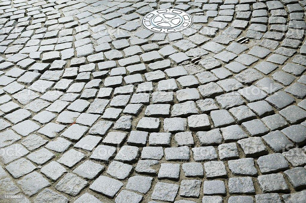 Golden Lane Cobblestones royalty-free stock photo