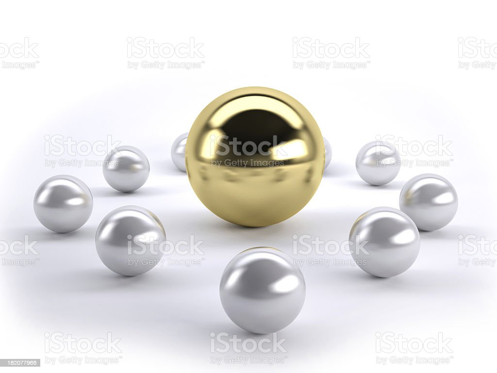 golden leader royalty-free stock photo