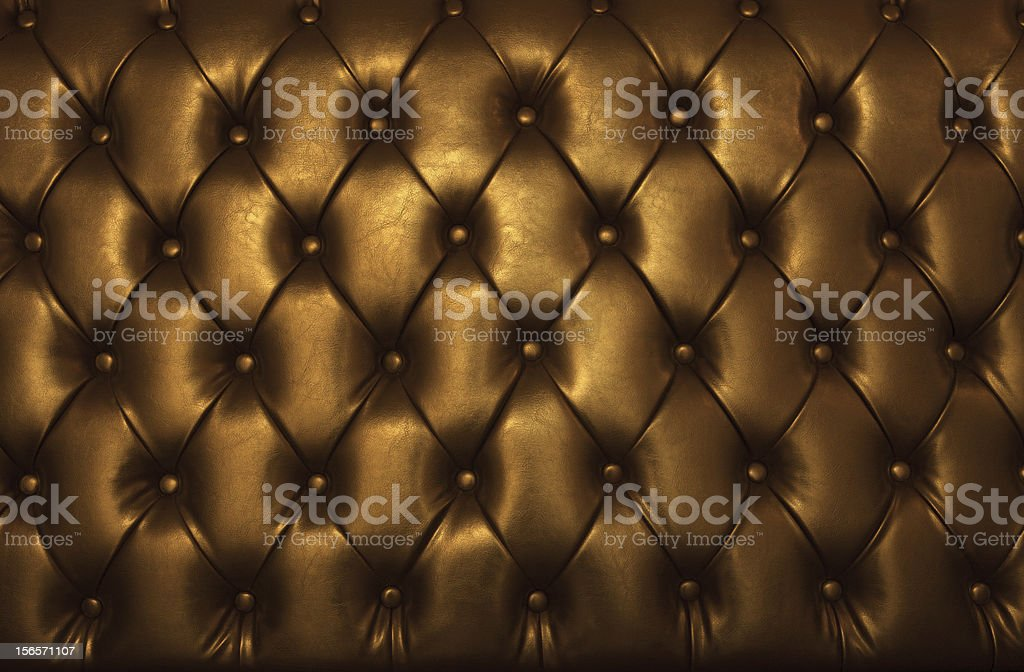 golden leather of luxury furniture royalty-free stock photo