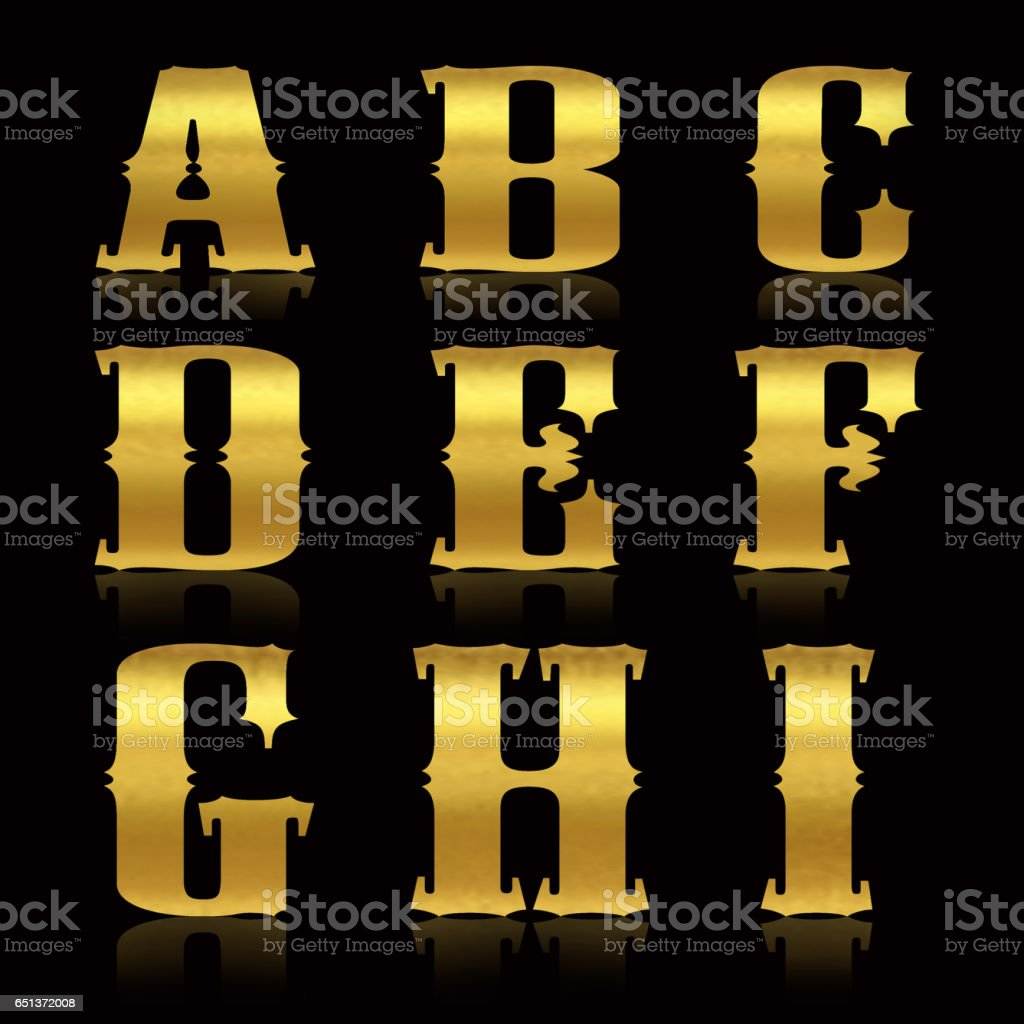Golden letters stock photo