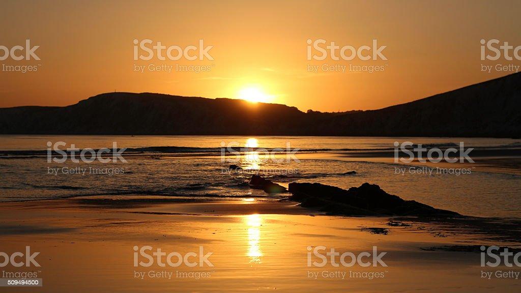 Golden light stock photo