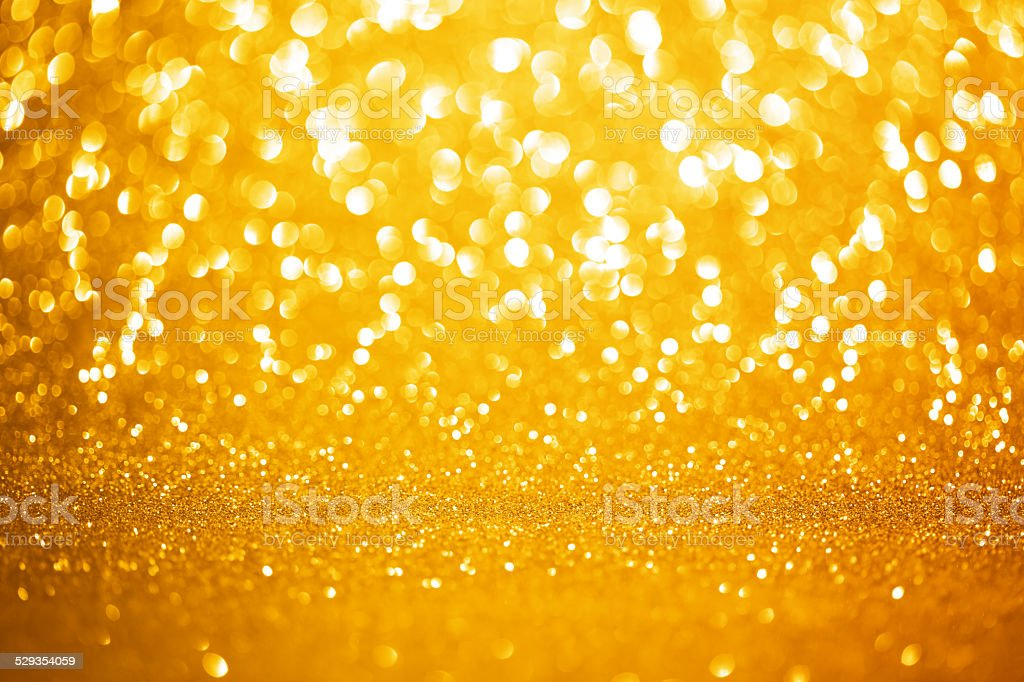 Golden lights background stock photo