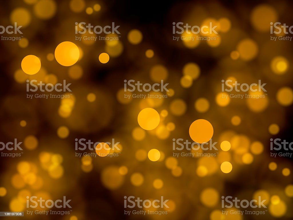 Golden lights defocused (XXXL) royalty-free stock photo