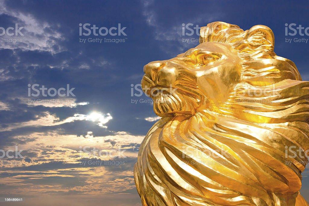 Golden Lion royalty-free stock photo