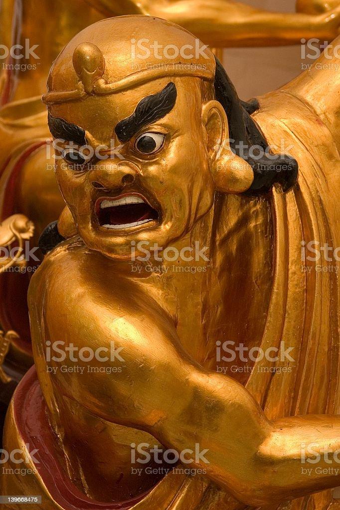 Golden Lohan statue royalty-free stock photo
