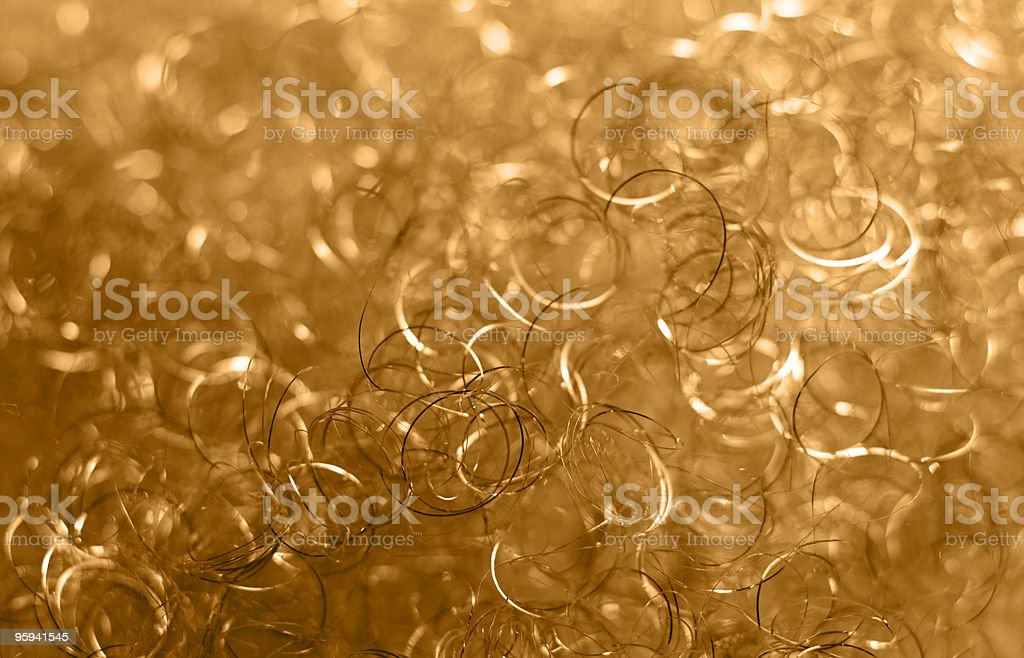 golden loops detail stock photo