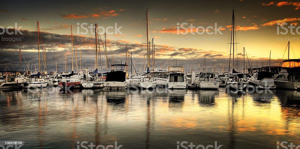Golden Marina stock photo