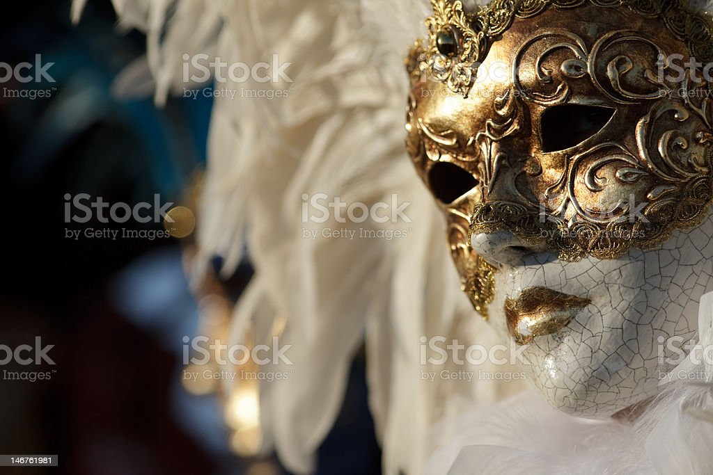Golden Mask royalty-free stock photo