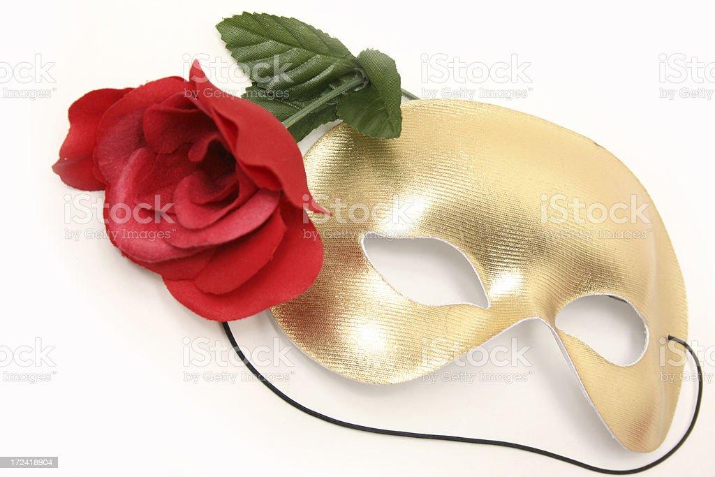 Golden Mask stock photo
