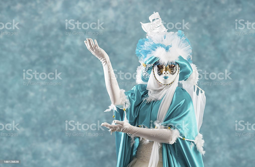 Golden Masked Woman stock photo