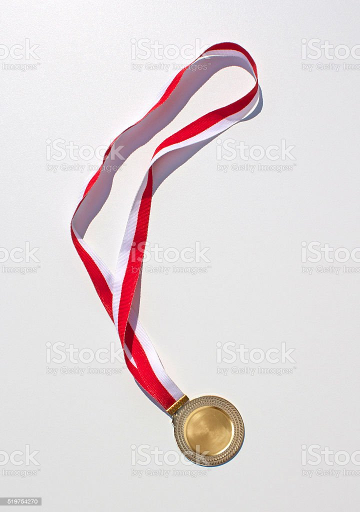 Golden Medal stock photo