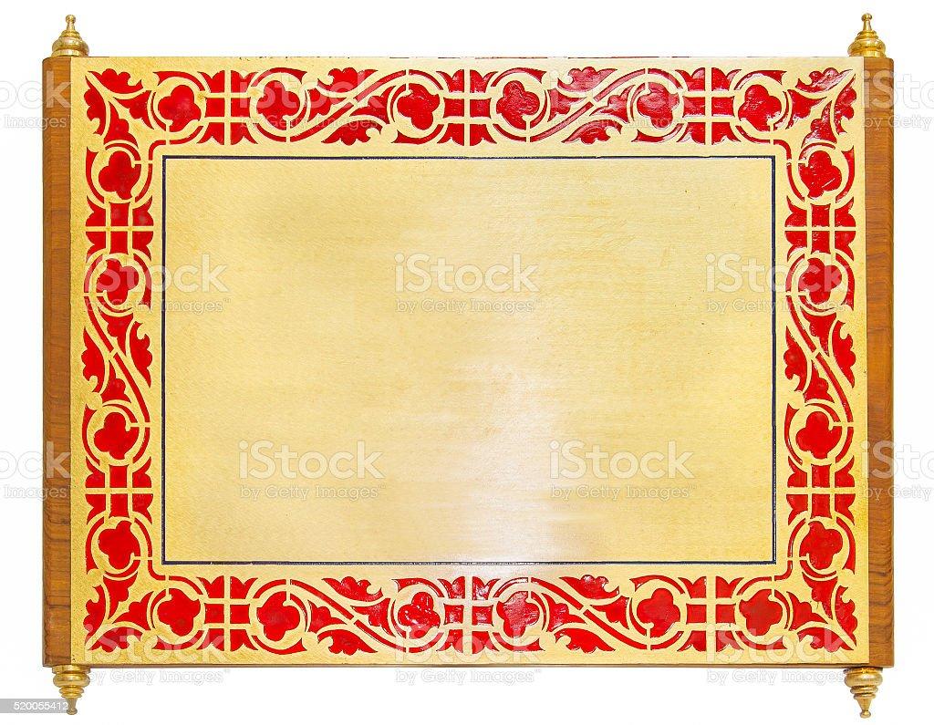 golden metal grame stock photo