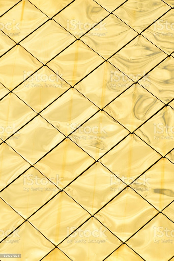 Golden metal panels texture background royalty-free stock photo