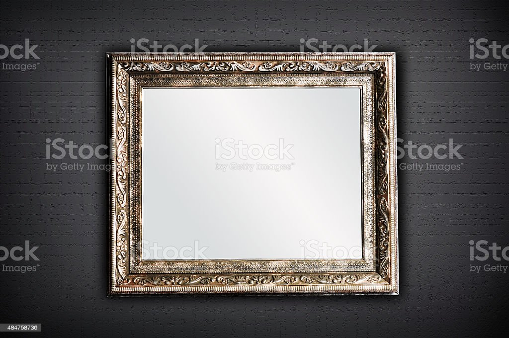 Golden Mirror stock photo