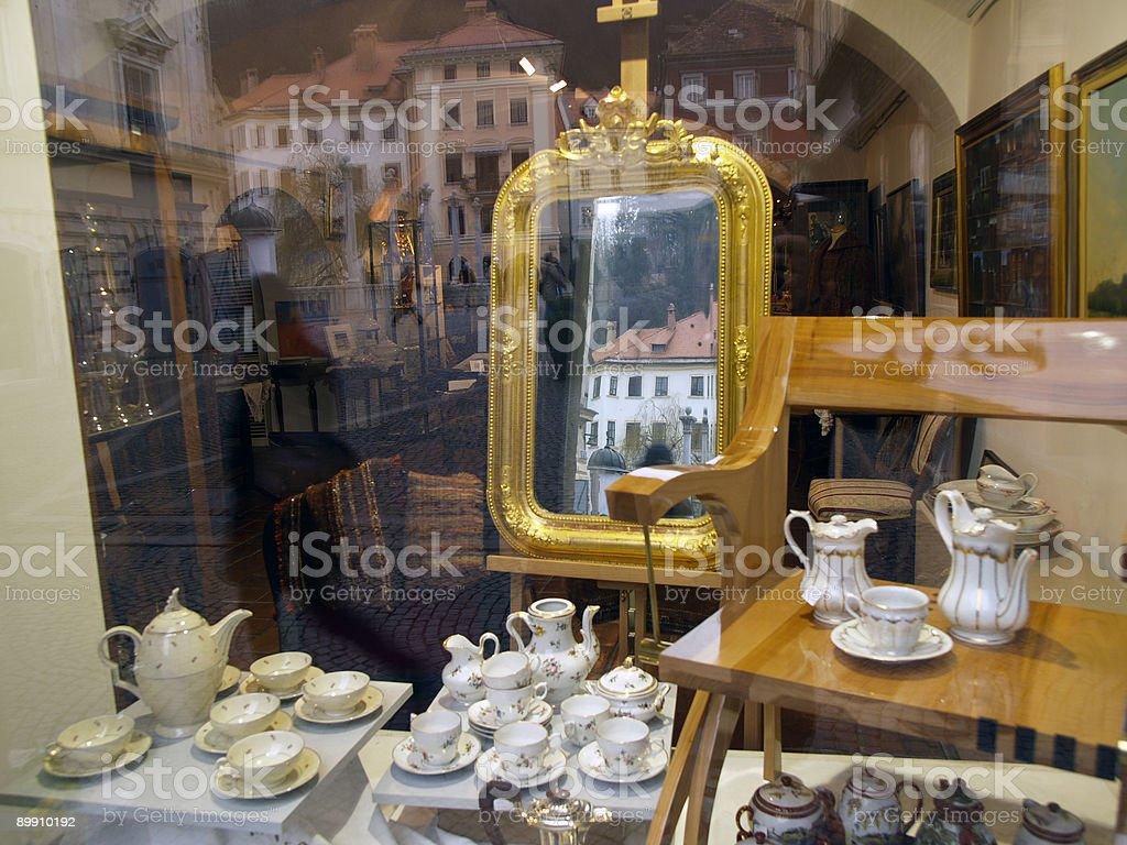 Golden mirror royalty-free stock photo