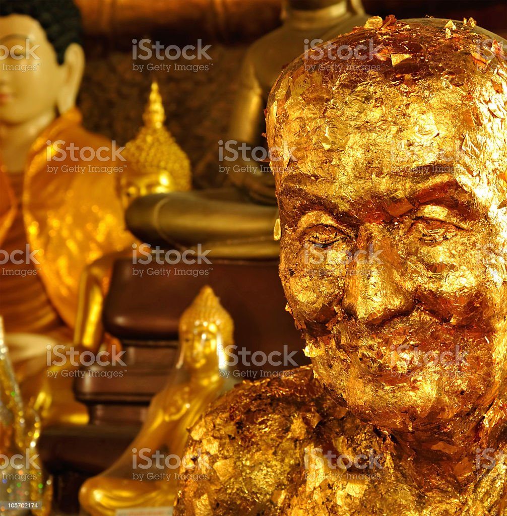Golden Monk royalty-free stock photo