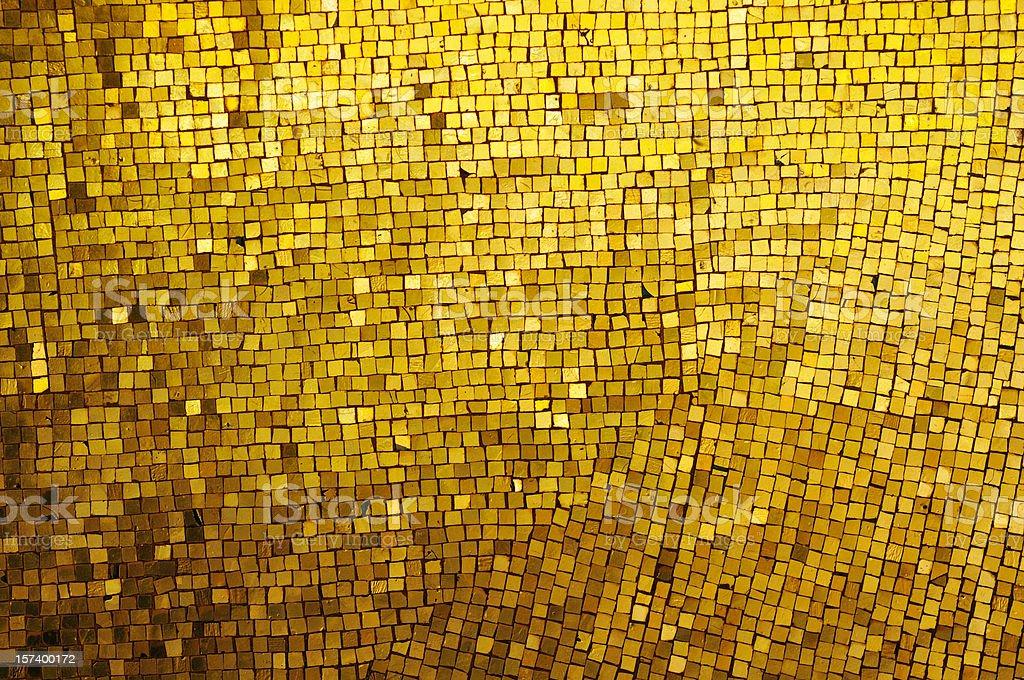 Golden Mosaic stock photo
