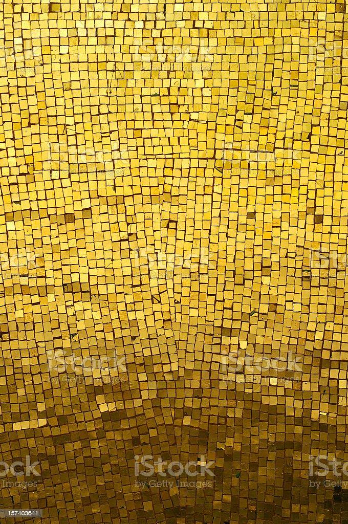 Golden Mosaic royalty-free stock photo