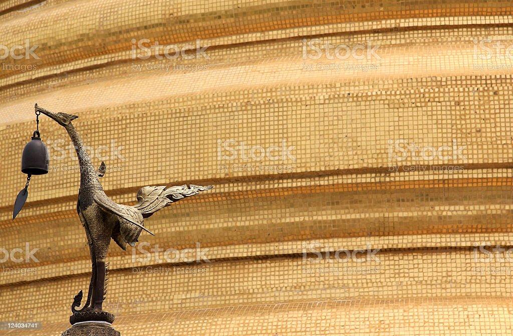 golden mount wat saket bangkok royalty-free stock photo
