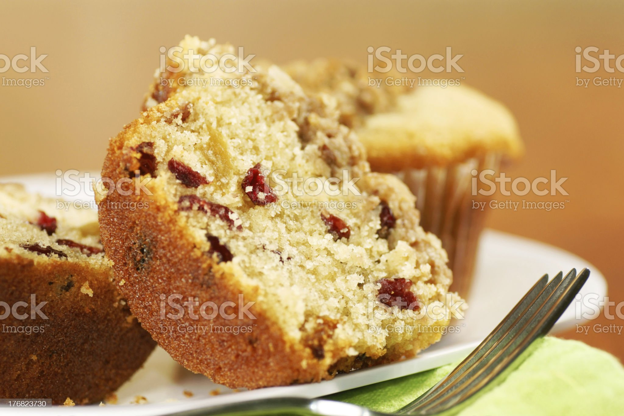 golden muffins royalty-free stock photo