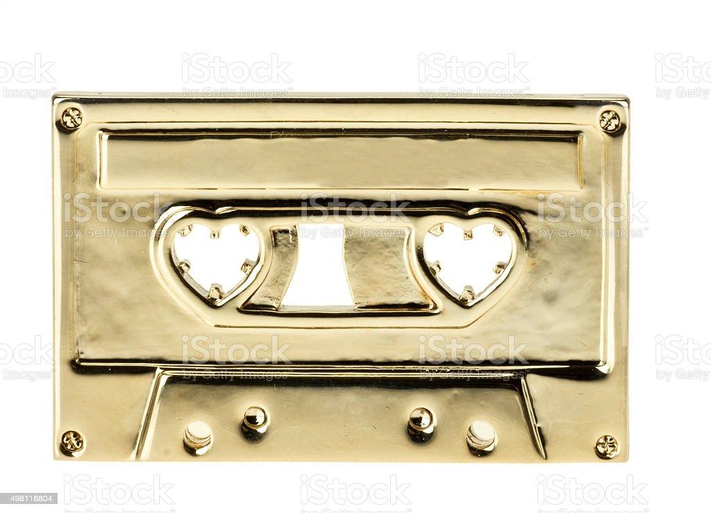 goldene Musikkassette stock photo