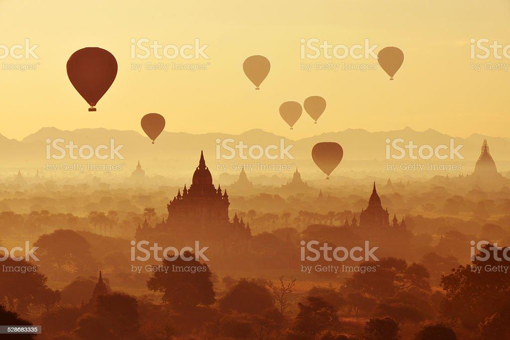 Golden Myanmar Dawn stock photo
