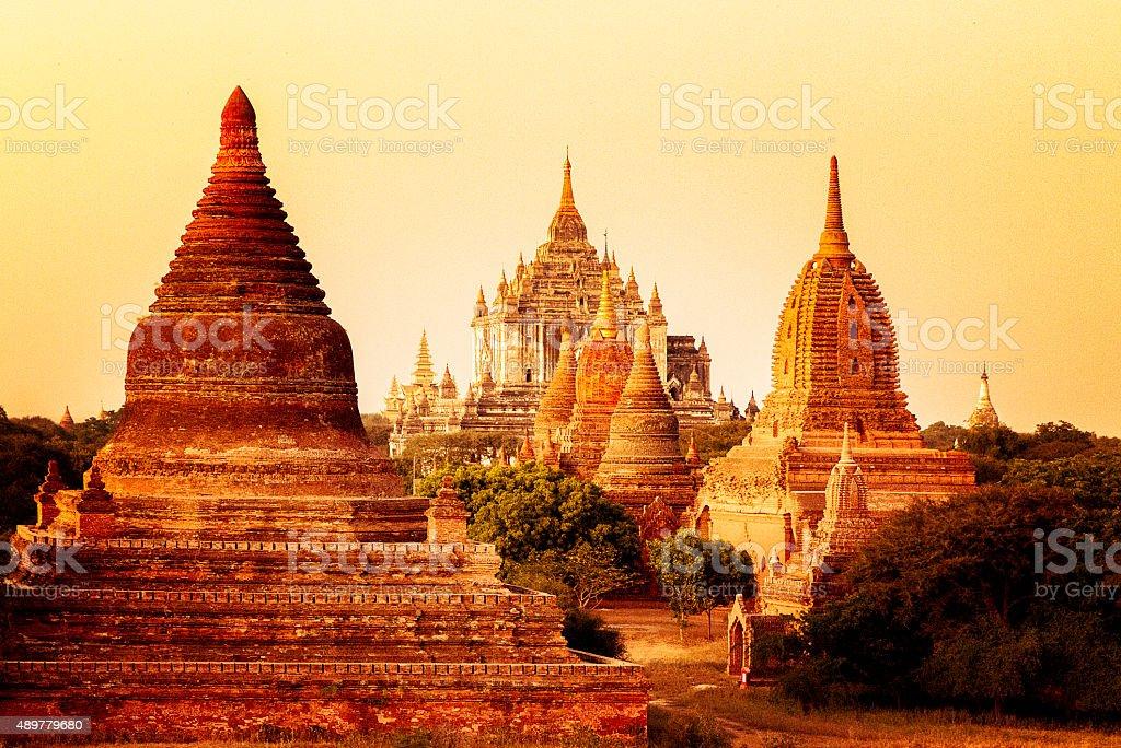 Golden Myanmar stock photo