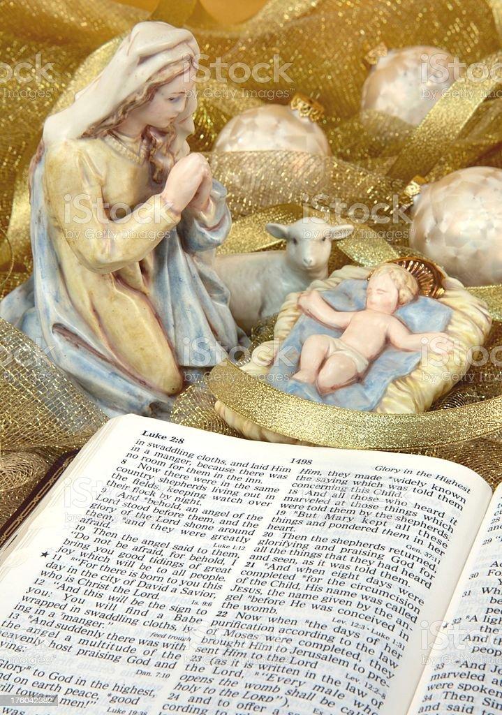 Golden Nativity royalty-free stock photo
