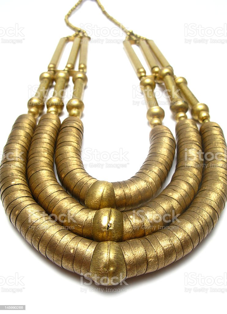 golden necklace royalty-free stock photo