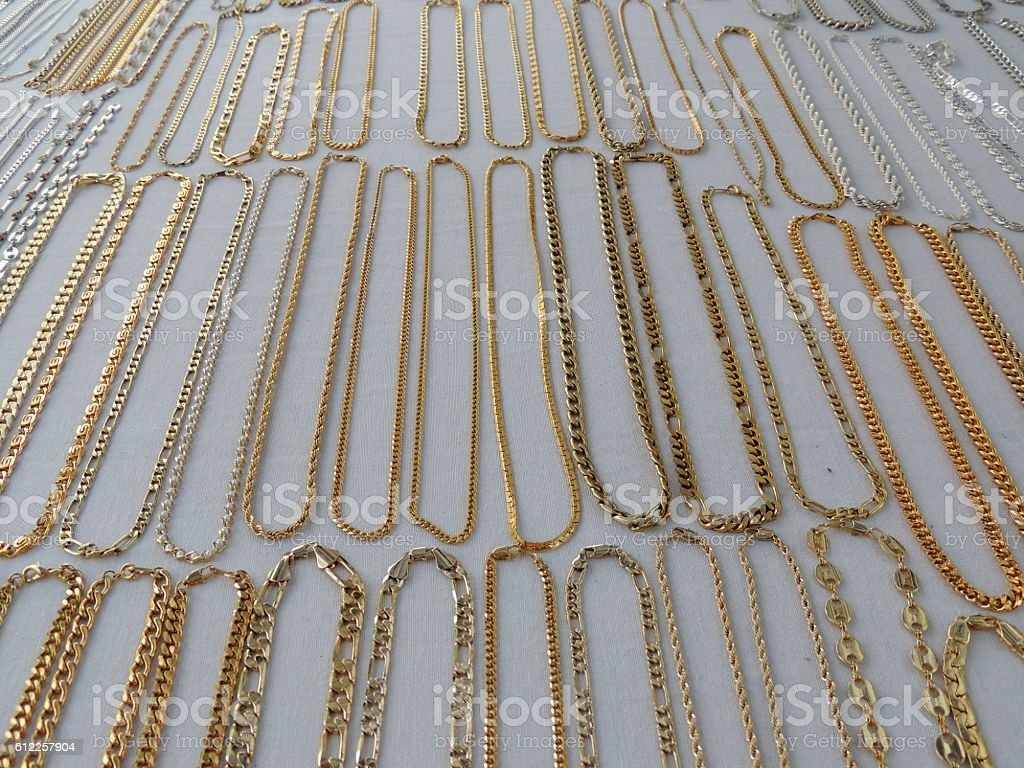 Golden Necklace stock photo