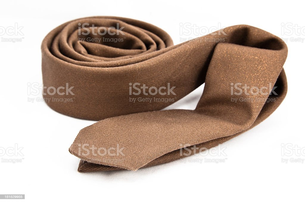 Golden necktie royalty-free stock photo