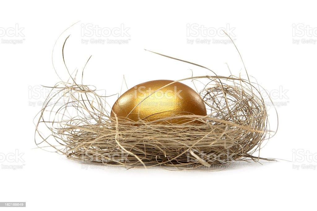 Golden nest egg royalty-free stock photo