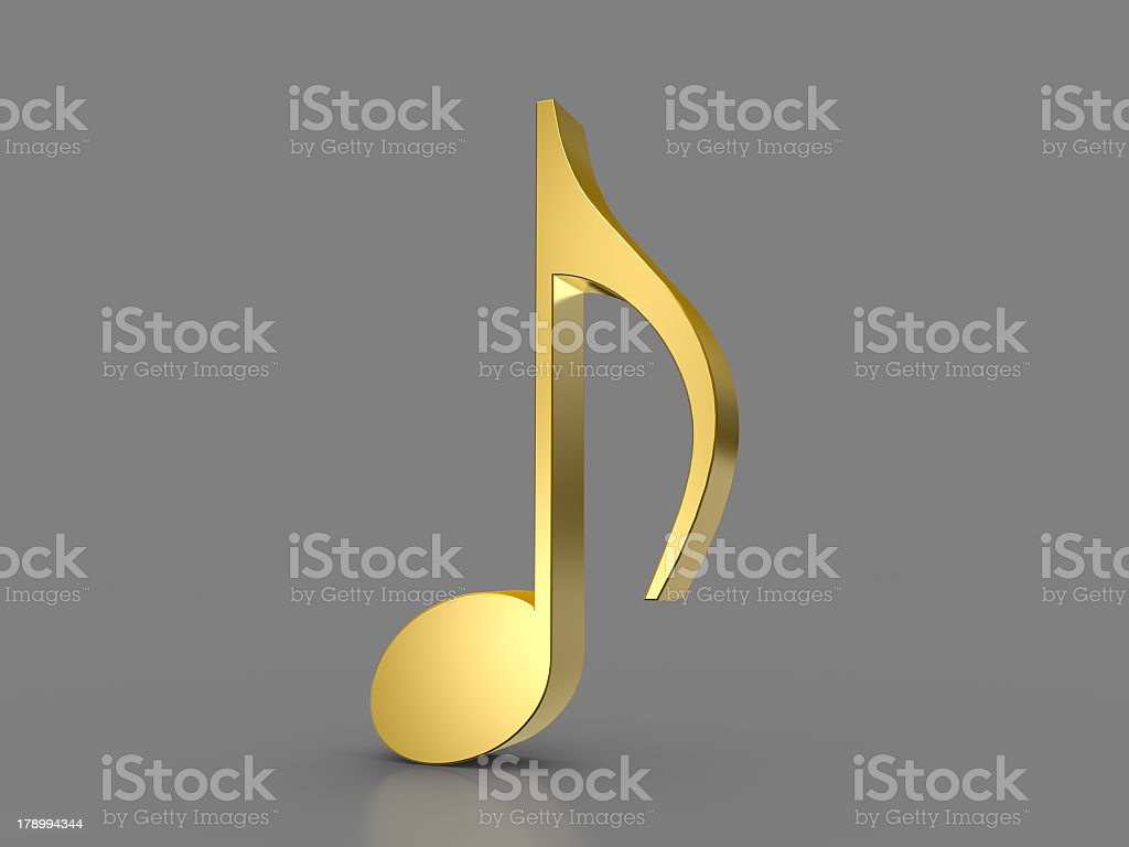 Golden Note royalty-free stock photo