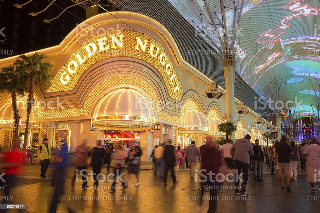 Golden Nugget Casino Vegas stock photo